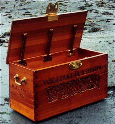Replica of Sea Chest  Used by Captain William Bligh, RN