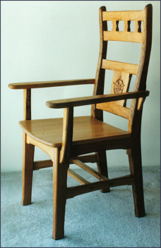 Dining chair for the head of the  table