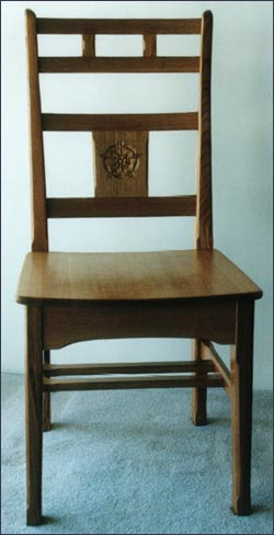 Dining Chair with carved Yorkshir Rose