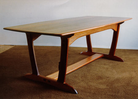 Red Meranti Wood Dining Table